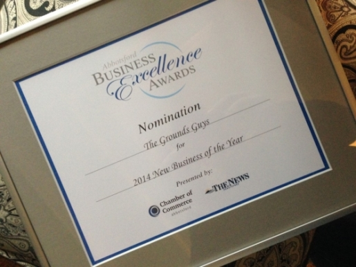The Grounds Guys of Abbotsford New Business of the Year Nomination